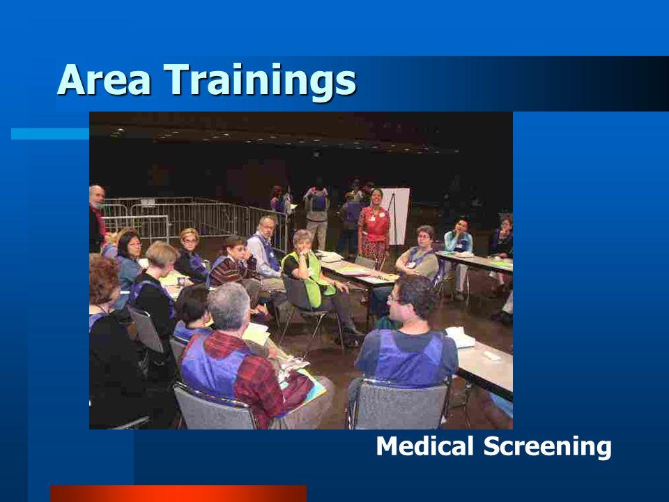 Area Trainings Medical Screening