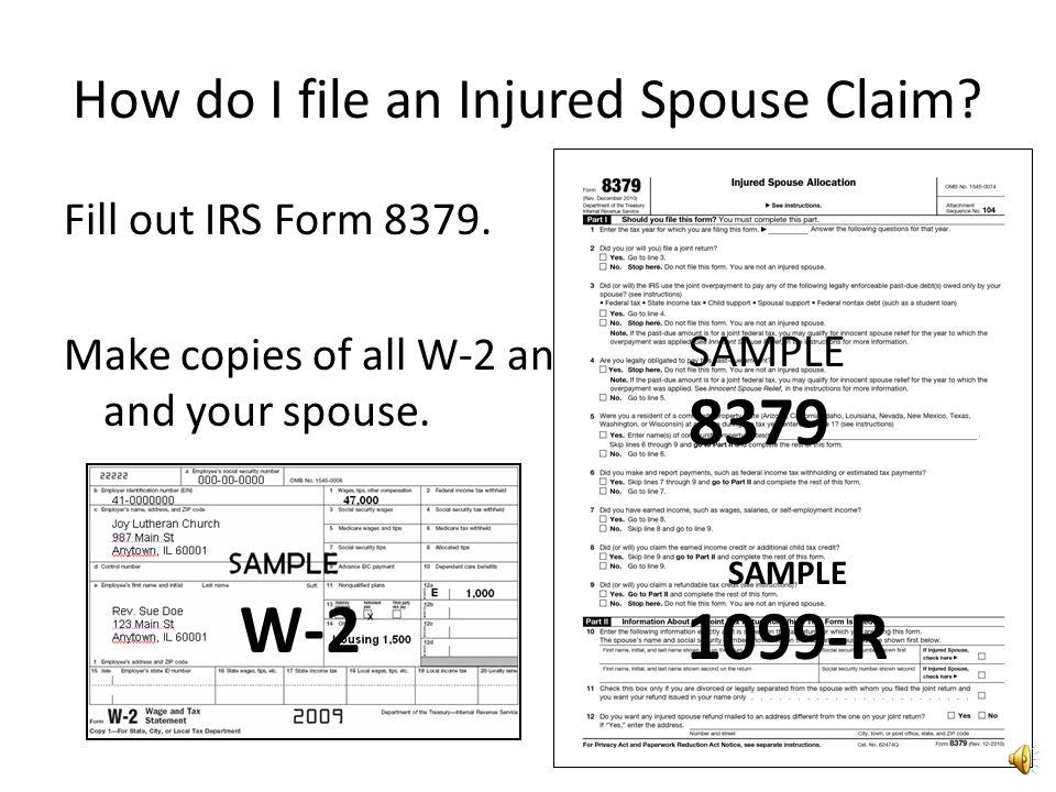 Joe should file an Injured Spouse Claim