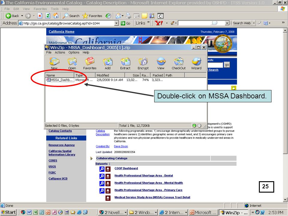 Double-click on MSSA Dashboard. 25