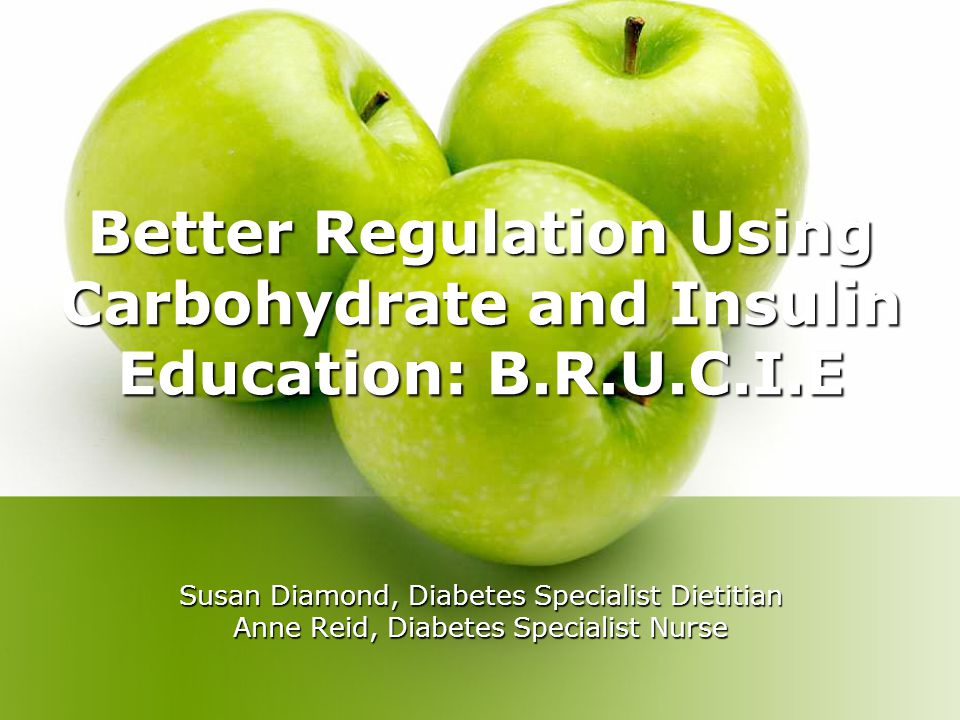 Objectives Primary Objective To assess if regulation using carbohydrate and insulin education will improve treatment satisfaction and quality of life for individuals with type 1 diabetes.
