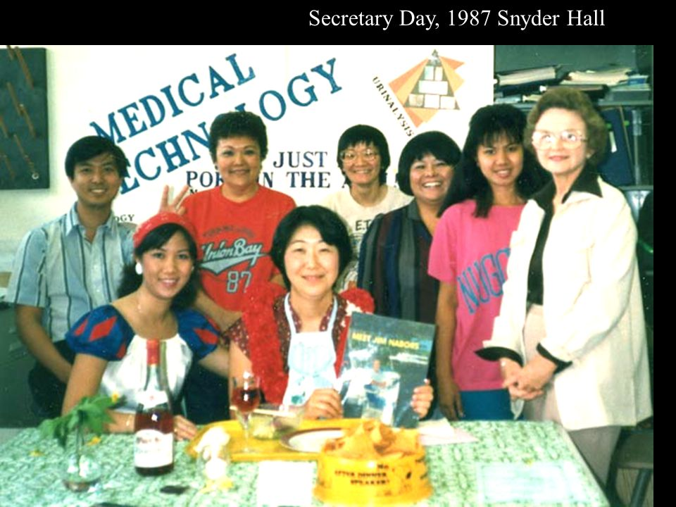 Secretary Day, 1987 Snyder Hall