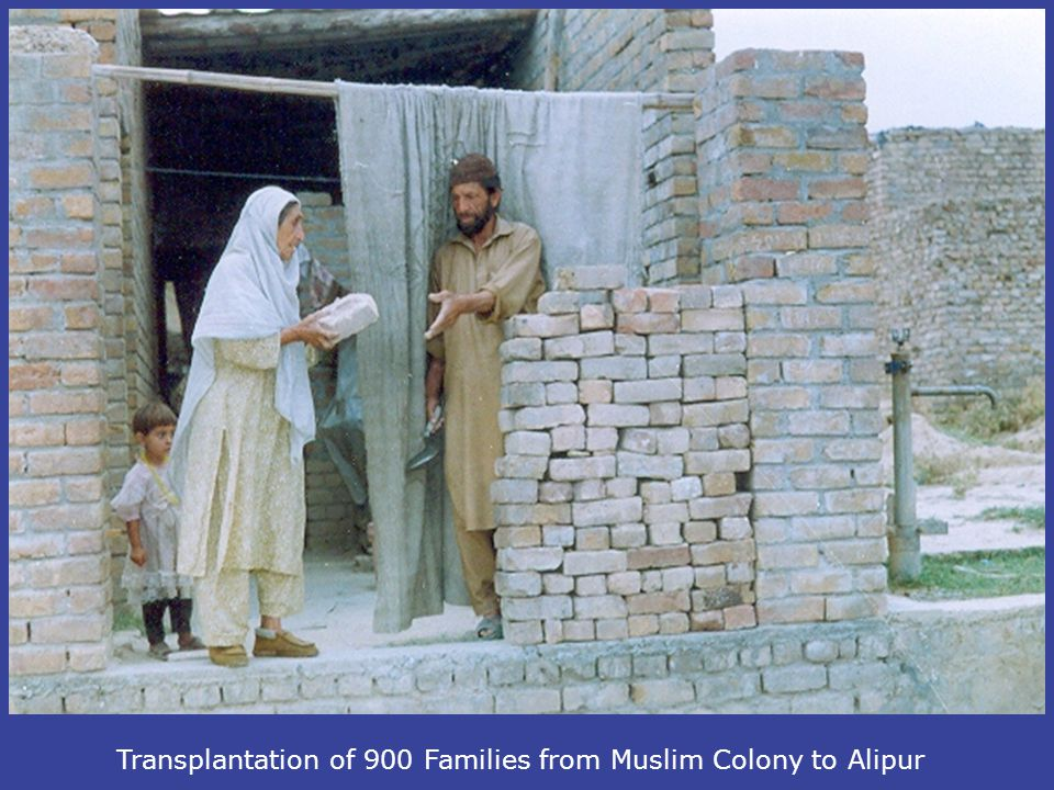 Transplantation of 900 Families from Muslim Colony to Alipur