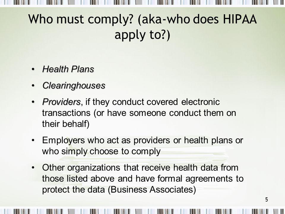 46 HIPAA SECURITY AWARENESS TRAINING Technical Safeguards: oAccess controls (e.g.