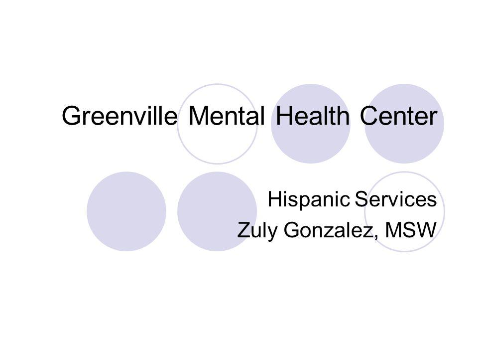 Bilingual staff at GMHC Zuly Gonzalez, MSW Angela Garzon, MA Claudia Jaramillo, MA Natasha Patino, BA Brian Marks, BA