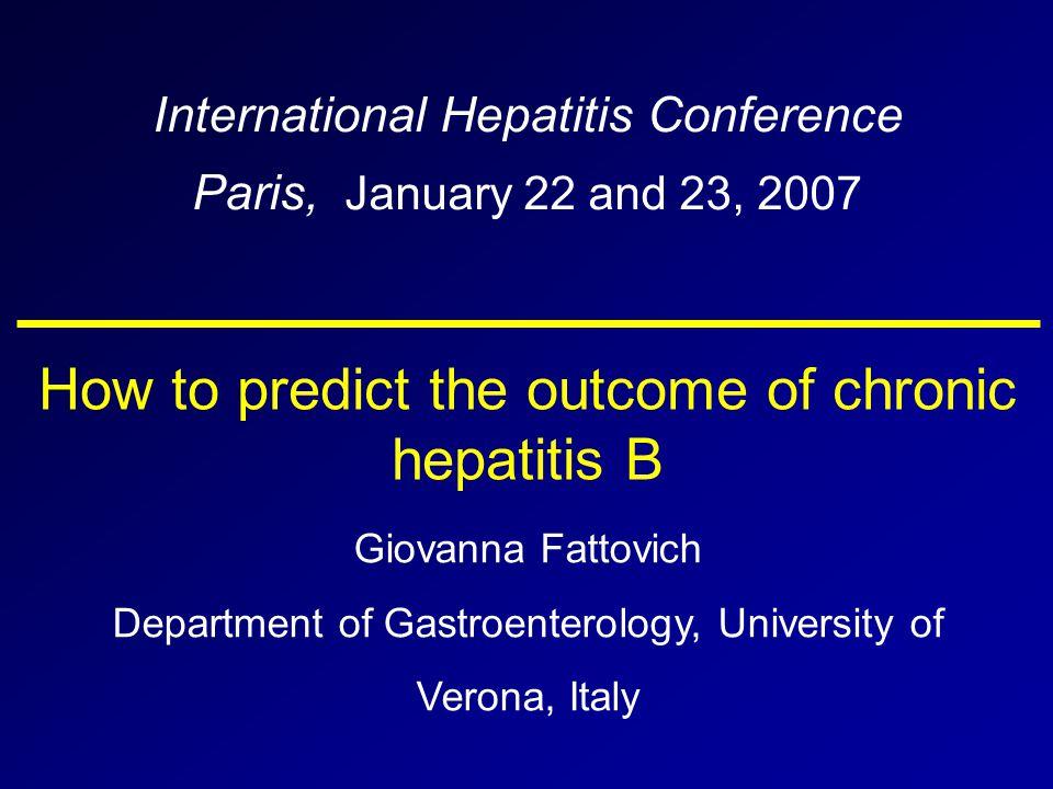 How to predict HBeAg seroconversion * older age Higher ALT levels at presentation acute flares of hepatitis HBV genotype (B > C) severe CH HBeAg+anti-HBe+ 1500 1000 200 100 0 10521 years ALT Chu CM, J Hepatol 2005: 43: 411 * strong association with higher rates Genotype B Genotype C years