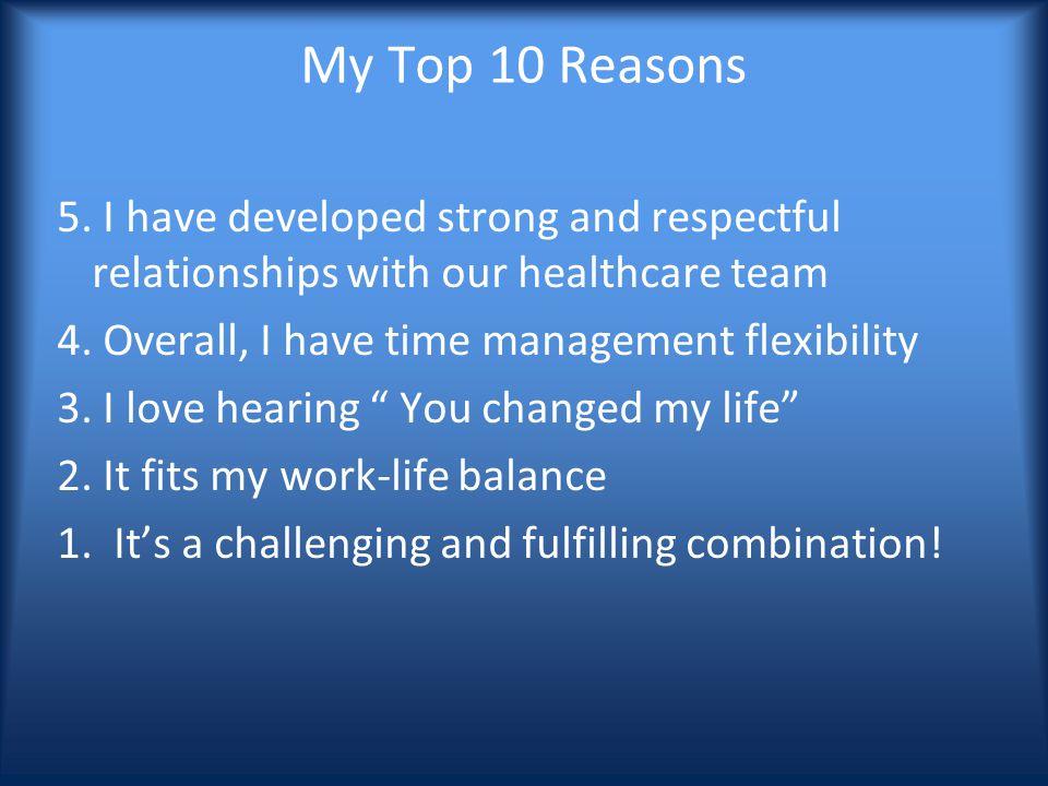 My Top 10 Reasons 5.