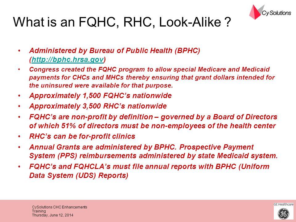 CySolutions CHC Enhancements Training Thursday, June 12, 2014 Administered by Bureau of Public Health (BPHC) (http://bphc.hrsa.gov)http://bphc.hrsa.go