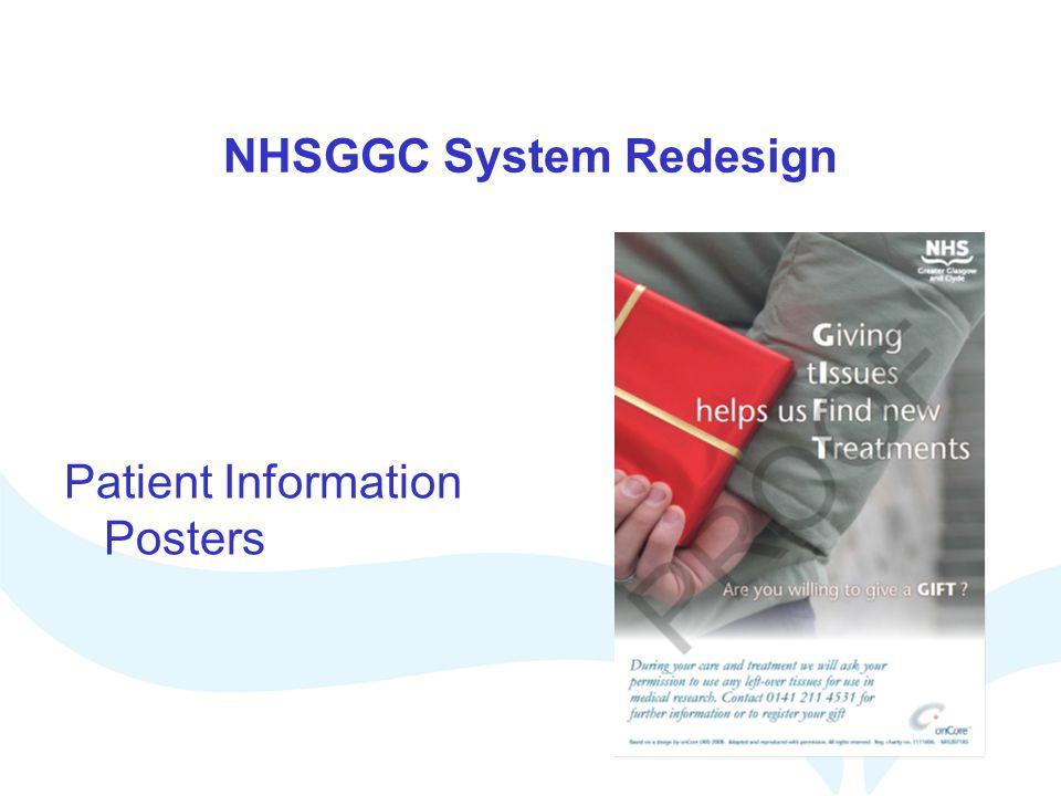 NHSGGC System Redesign Patient Information Posters