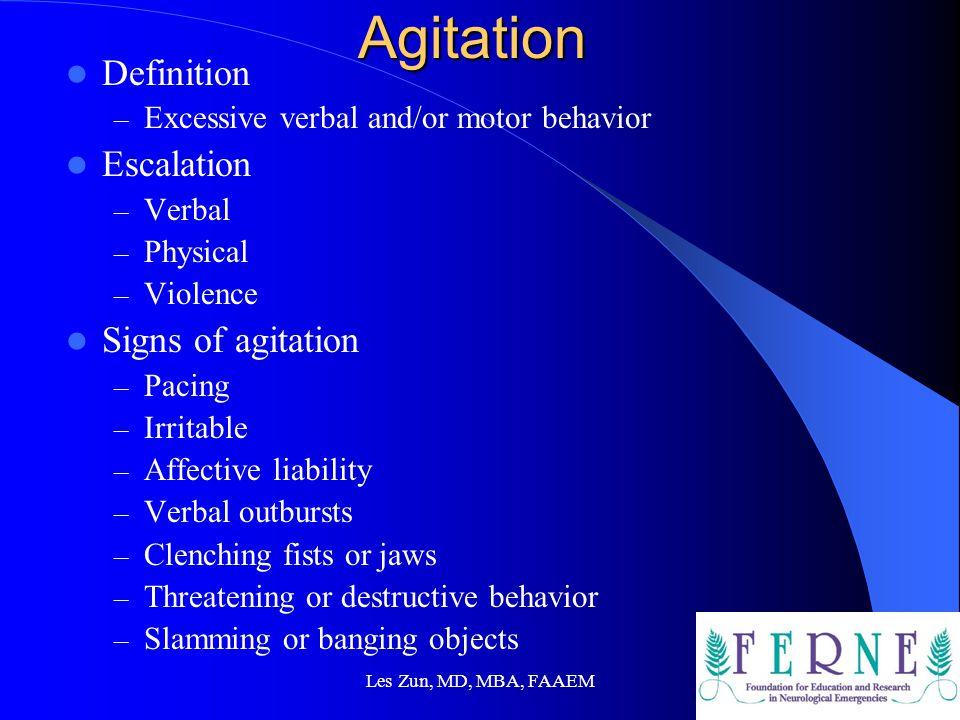 Les Zun, MD, MBA, FAAEM Prevent Violence Brasic, JR, Fogel, D:Clinical safety.