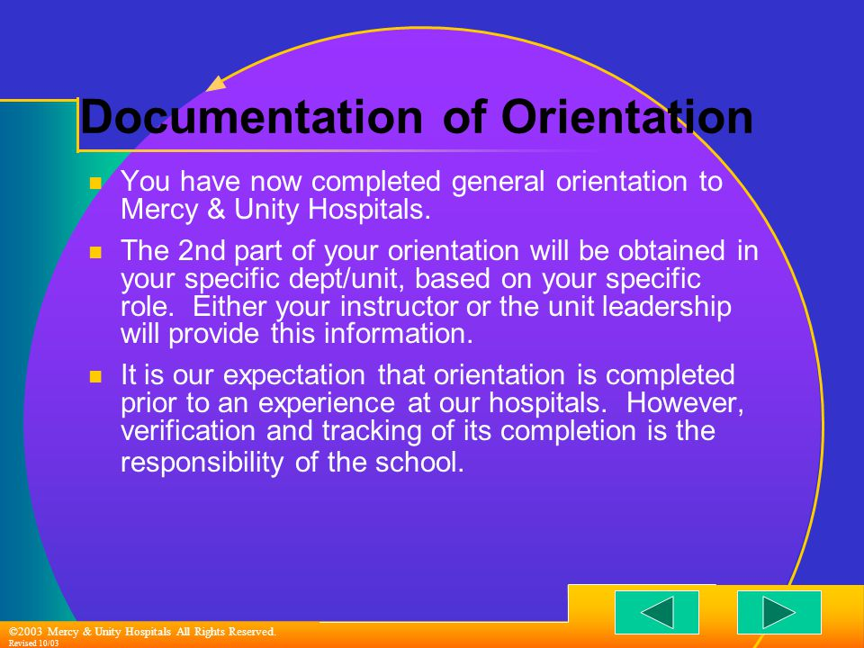 ©2003 Mercy & Unity Hospitals All Rights Reserved.