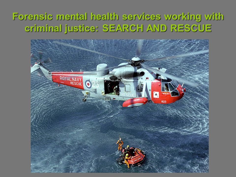 Forensic mental health services working with criminal justice: SEARCH AND RESCUE
