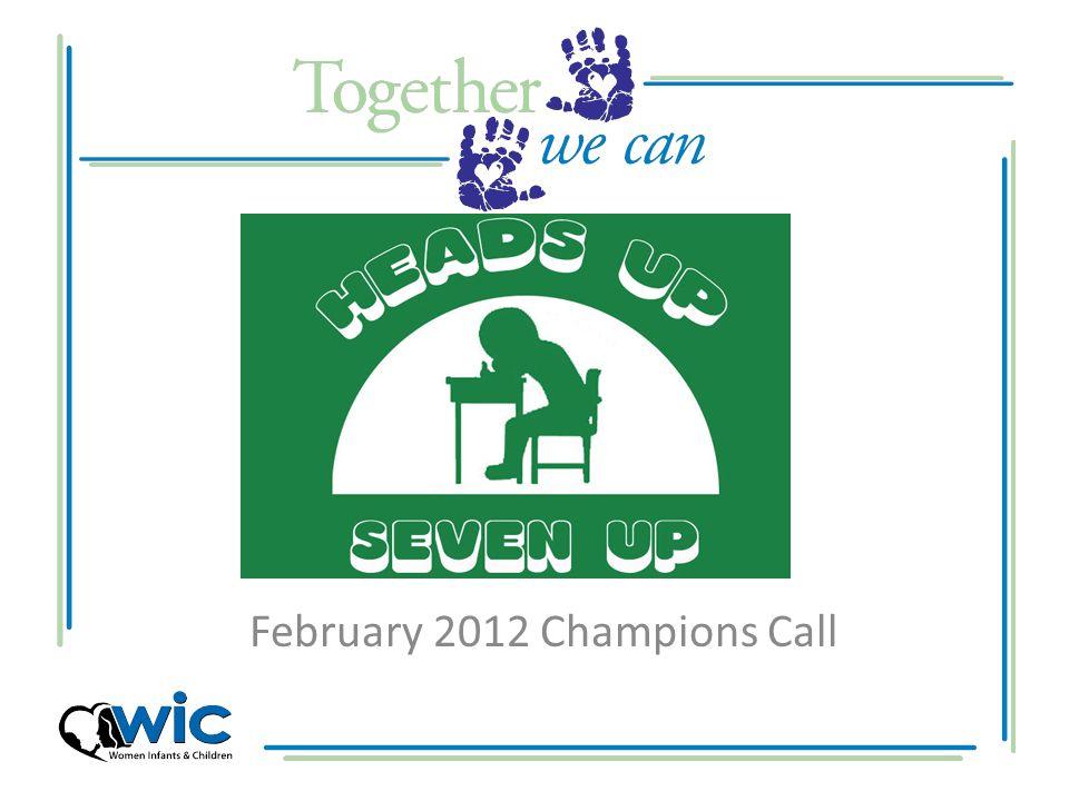 February 2012 Champions Call