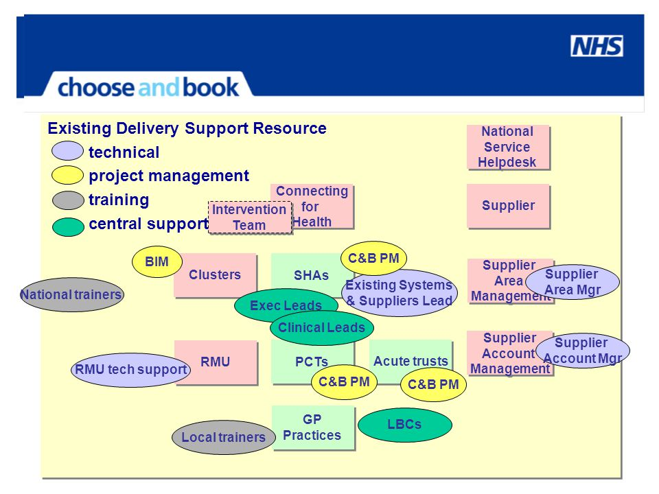 Existing Delivery Support Resource technical project management training central support Existing Delivery Support Resource technical project manageme