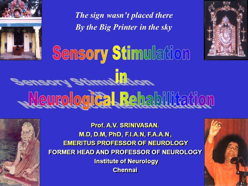 Prof.A.V. SRINIVASAN.