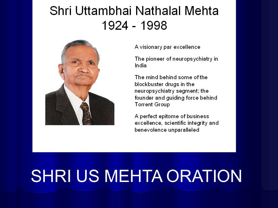 SHRI US MEHTA ORATION