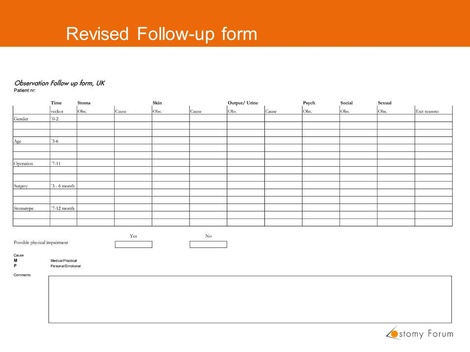 Revised Follow-up form