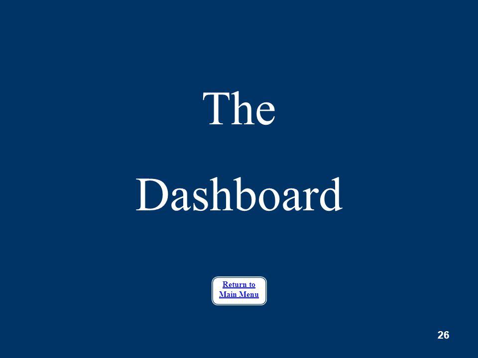 26 The Dashboard Return to Main Menu
