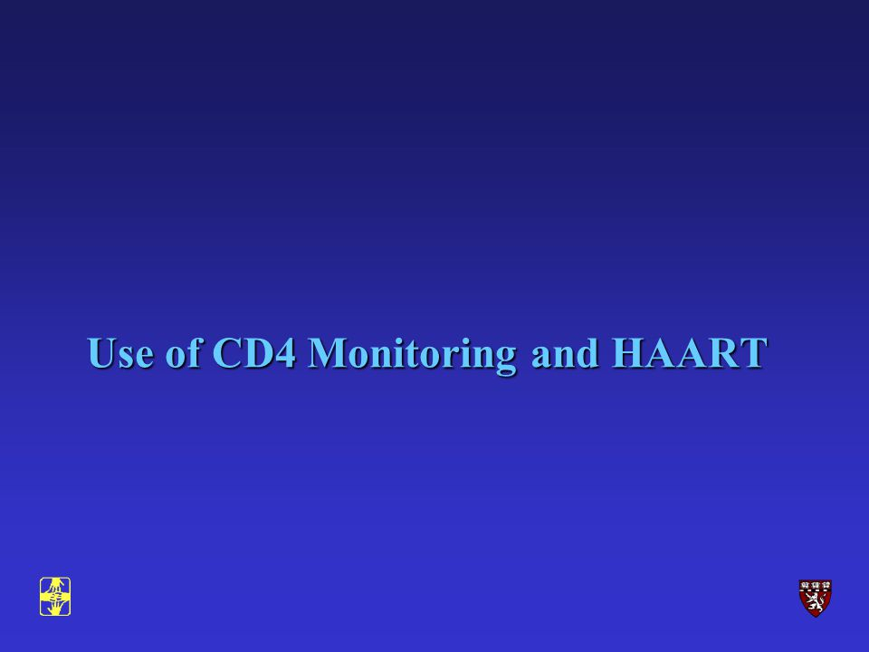 Use of CD4 Monitoring and HAART