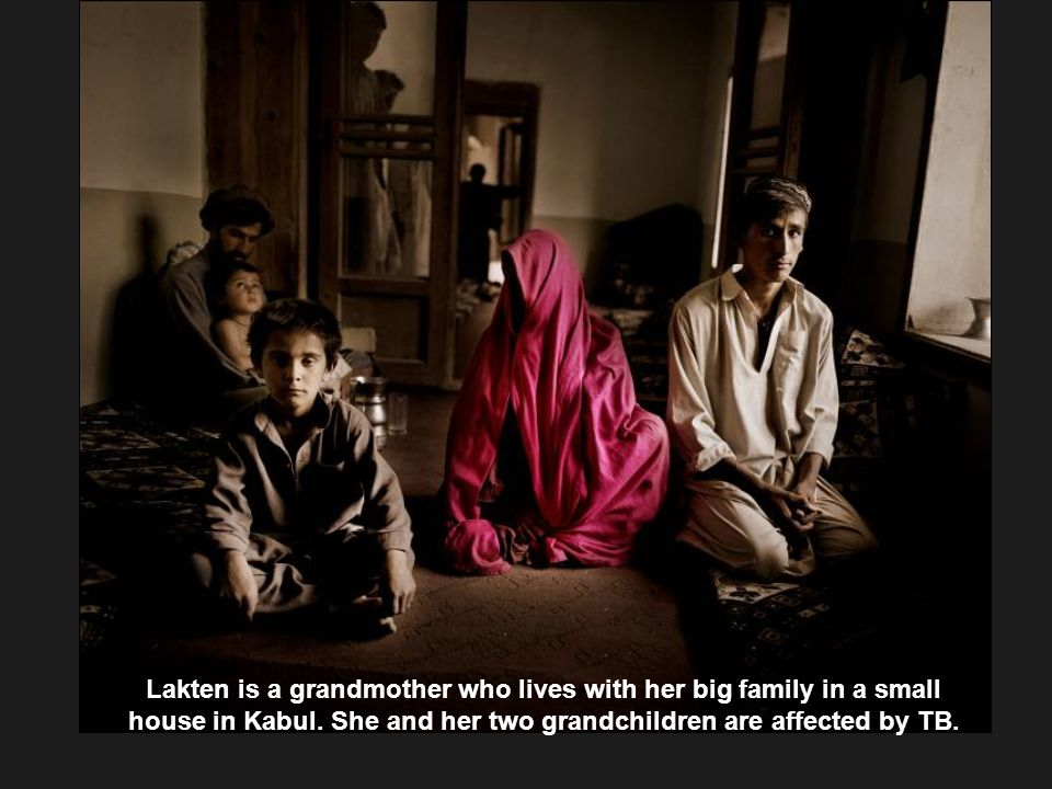 Lakten is a grandmother who lives with her big family in a small house in Kabul.