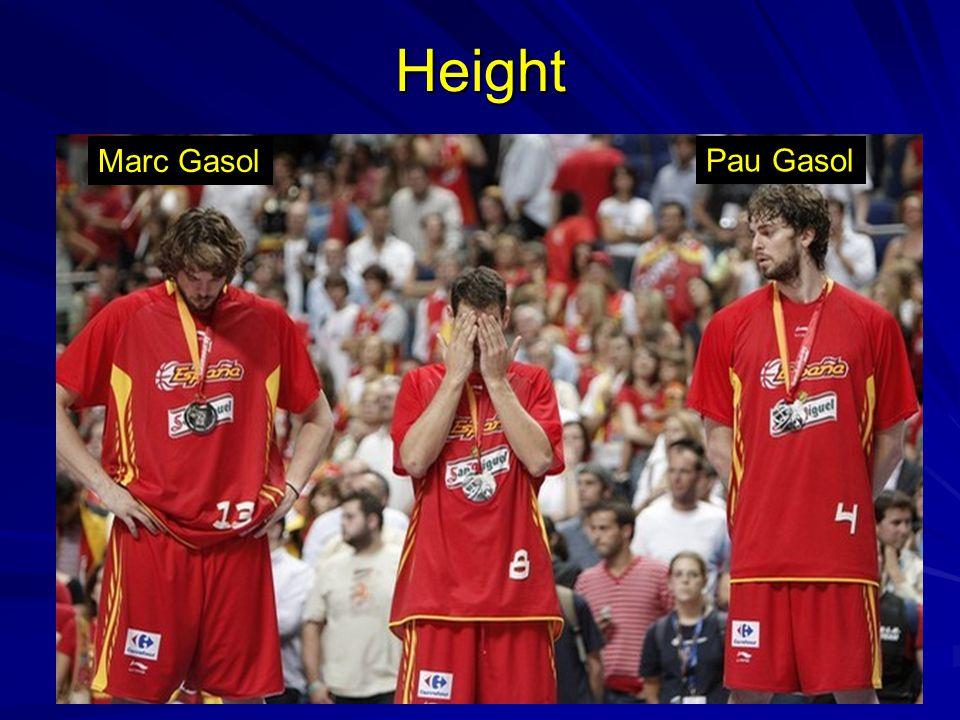 Height Marc Gasol Pau Gasol