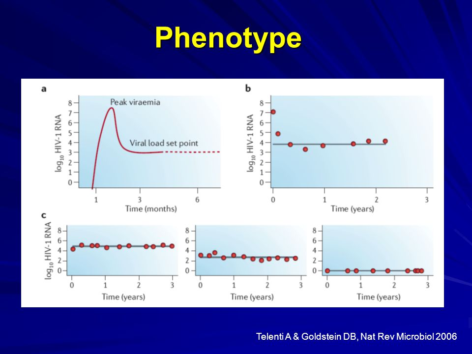 Telenti A & Goldstein DB, Nat Rev Microbiol 2006 Phenotype