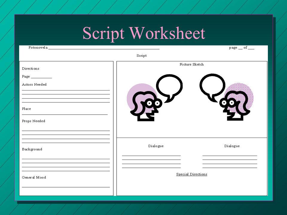 Script Worksheet