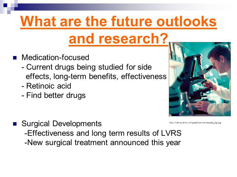 What are the future outlooks and research.