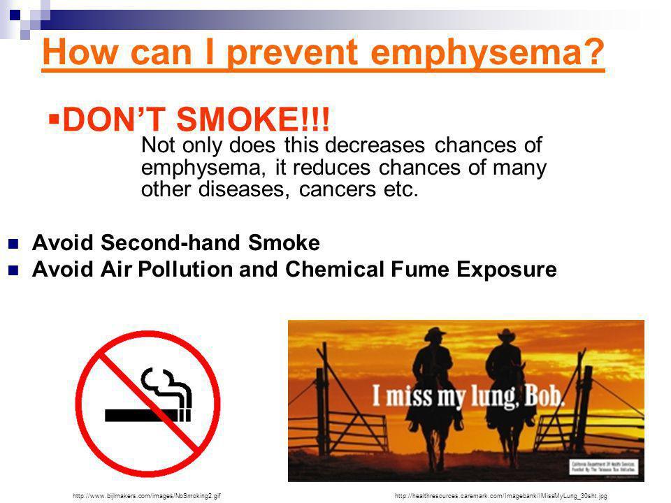 How can I prevent emphysema.