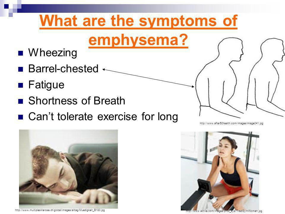 What are the effects of emphysema.