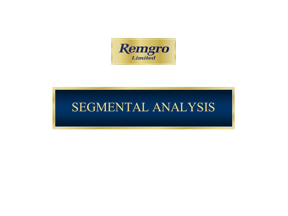 SEGMENTAL ANALYSIS