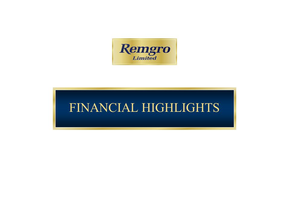 4 Financial Highlights Interim Sep 05 Interim Sep 04 (1) % change Final Mar 05 (1) Headline earnings (Rm)2 8092 45914.25 006 Headline EPS (cents)579.4491.417.91 006.7 Basic EPS (cents)1 203.5786.653.01 721.1 DPS - Ordinary (cents)133.0116.014.7314.0 - Special (cents)600.0 (2) -- Intrinsic NAV (R) – after CGT136.36107.7713.7 (3) 119.97 Closing share price (R)109.9582.1033.993.80 (1)The final and interim figures for March 2005 and September 2004 have been adjusted to be IFRS compliant, with the exception of FirstRand, RMBH and Nampak, which are reported in terms of SA GAAP (see slide 5) (2)The special dividend of 600 cents has been declared and paid (3)The change in the intrinsic value from 31 March 2005 to 30 September 2005