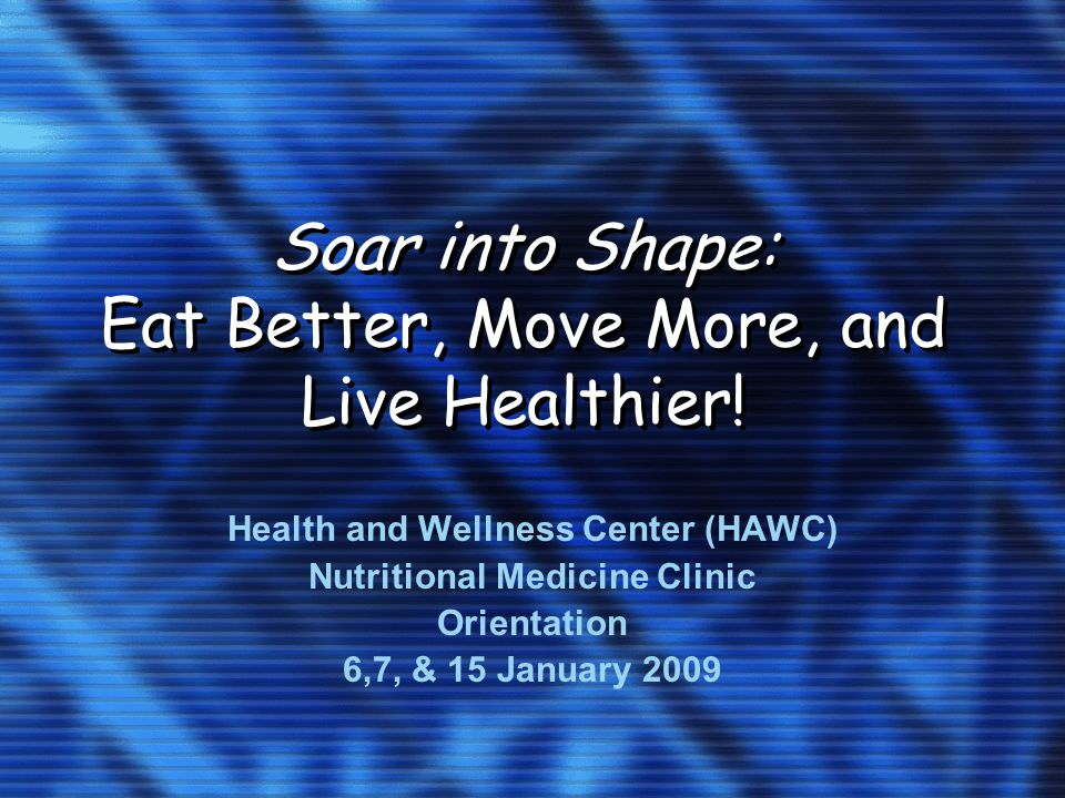 Soar into Shape: Eat Better, Move More, and Live Healthier.