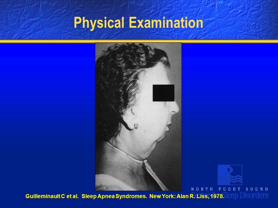 Physical Examination Guilleminault C et al. Sleep Apnea Syndromes. New York: Alan R. Liss, 1978.