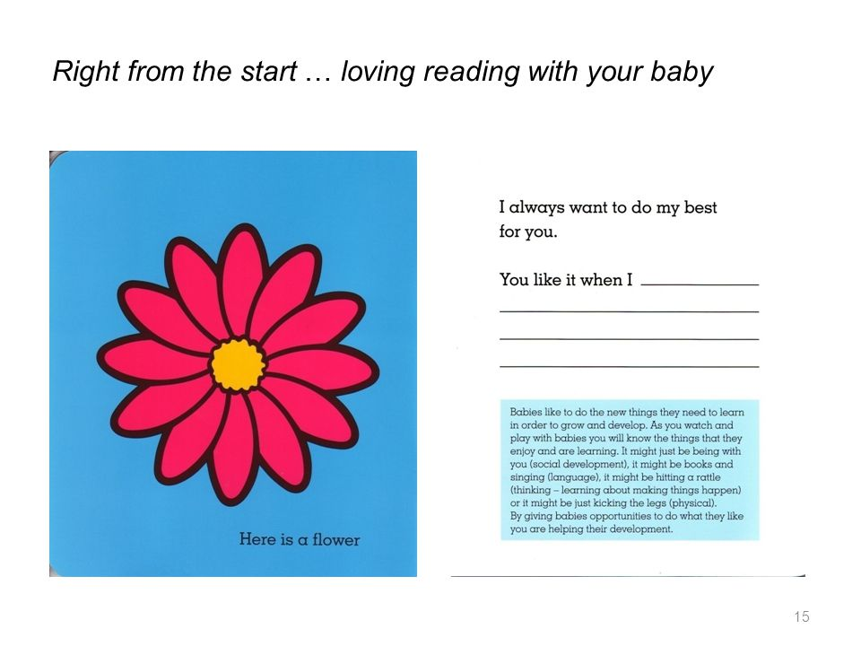 Right from the start … loving reading with your baby 15