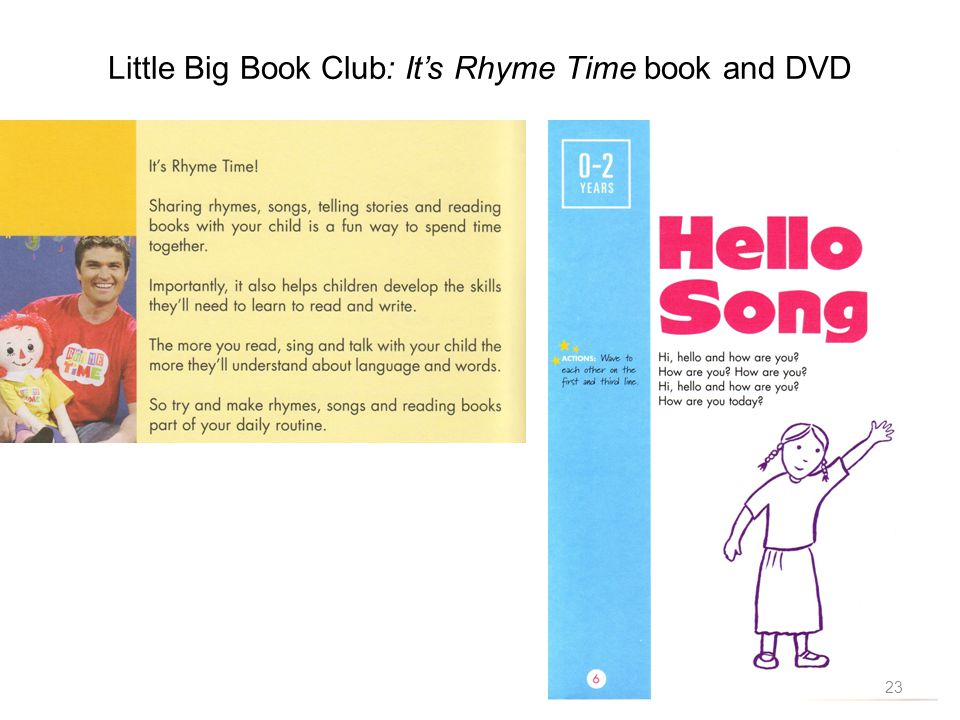 Little Big Book Club: Its Rhyme Time book and DVD 23