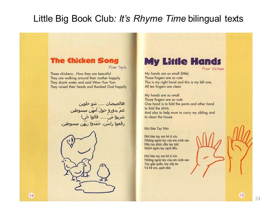 Little Big Book Club: Its Rhyme Time bilingual texts 24