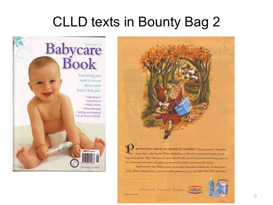 CLLD texts in Bounty Bag 3 Babycare Book 6
