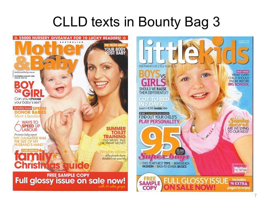 CLLD texts in Bounty Bag 3 7