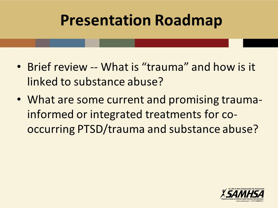 TREM Facts Population – women trauma survivors with substance abuse and/or mental health problems; a mens group and an adolescent girls group have been implemented; 18-25, 26-55 yrs; diverse ethnic groups Sessions – 24 to 29 to 33 weekly group sessions (6-8 members), 75 minutes per session, over a 9 month period Setting – substance abuse and mental health programs (residential and non-residential), correctional institutions, welfare-to-work programs, homeless shelters