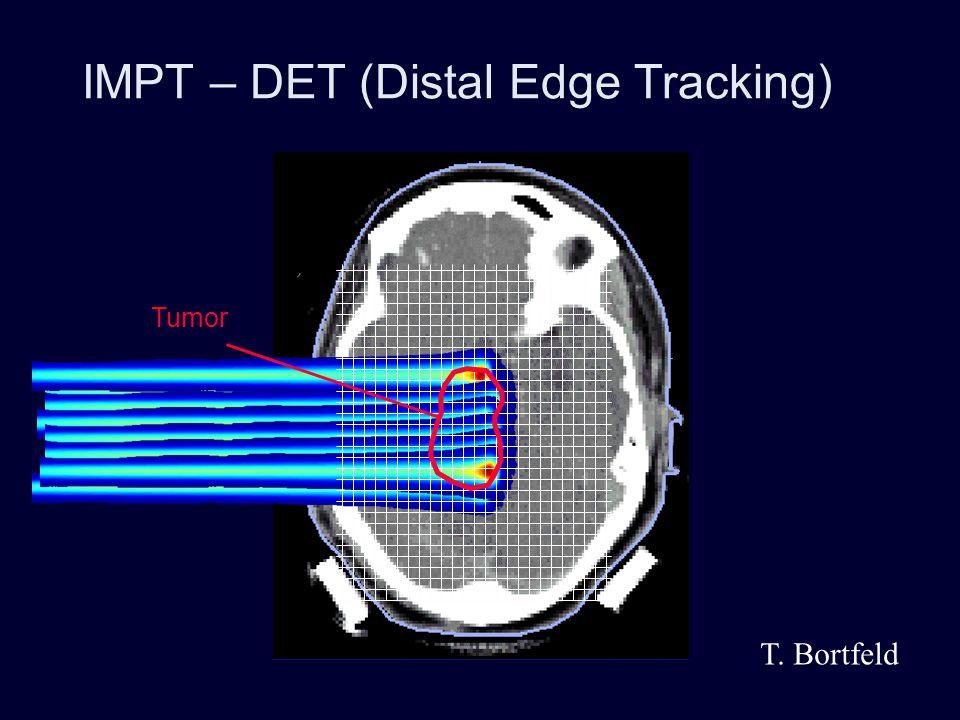 Distal Edge Tracking: Problem with range uncertainty Tumor Brainstem T. Bortfeld