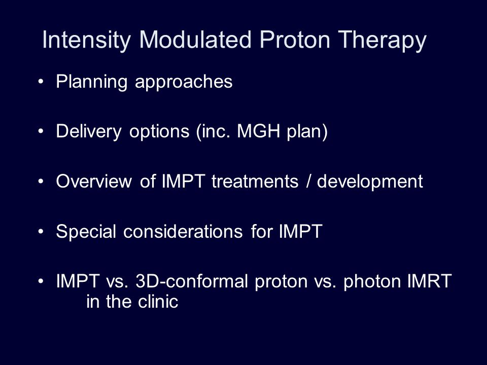 Proton depth-dose distribution: Bragg peak Depth = additional degree of freedom with protons H.Kooy BPTC