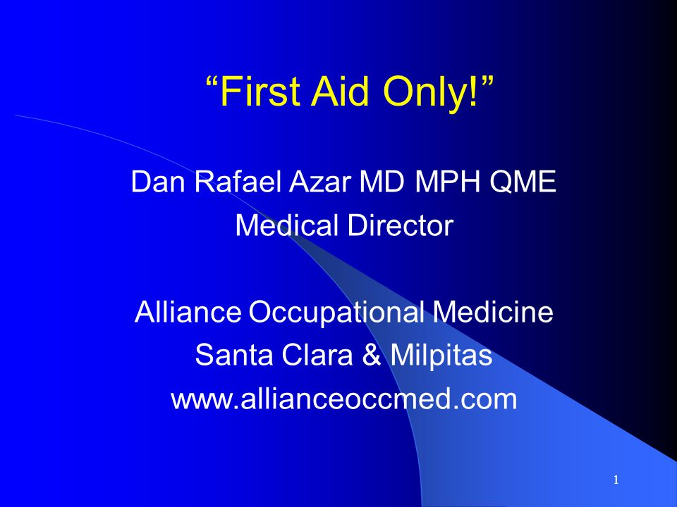 Employer/Employee Reporting Not Required for First Aid If treatment is considered first aid, the employer is not required to submit an Employer s Report of Occupational Injury or Illness to State Fund nor provide a Workers Compensation Claim Form to the employee.