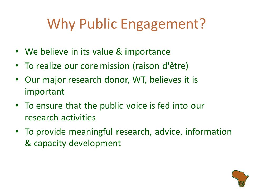 What Is Public Engagement (PE).