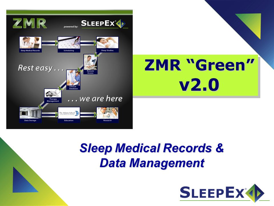What is ZMR.ZMR is a paperless medical records system for sleep professionals Web-based.