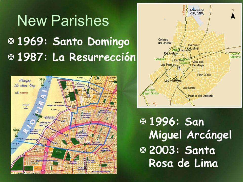 New Parishes 1996: San Miguel Arcángel 2003: Santa Rosa de Lima 1969: Santo Domingo 1987: La Resurrección