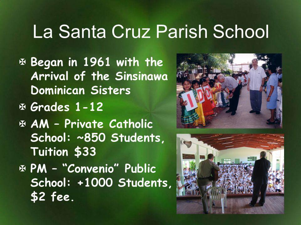 La Santa Cruz Parish School Began in 1961 with the Arrival of the Sinsinawa Dominican Sisters Grades 1-12 AM – Private Catholic School: ~850 Students,