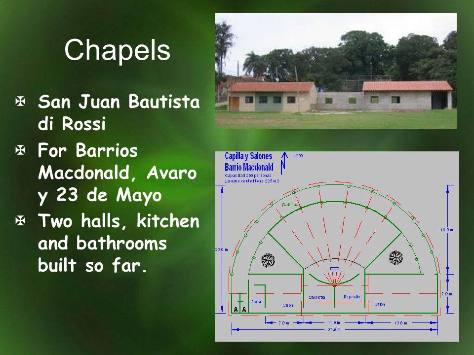 Chapels San Juan Bautista di Rossi For Barrios Macdonald, Avaro y 23 de Mayo Two halls, kitchen and bathrooms built so far.