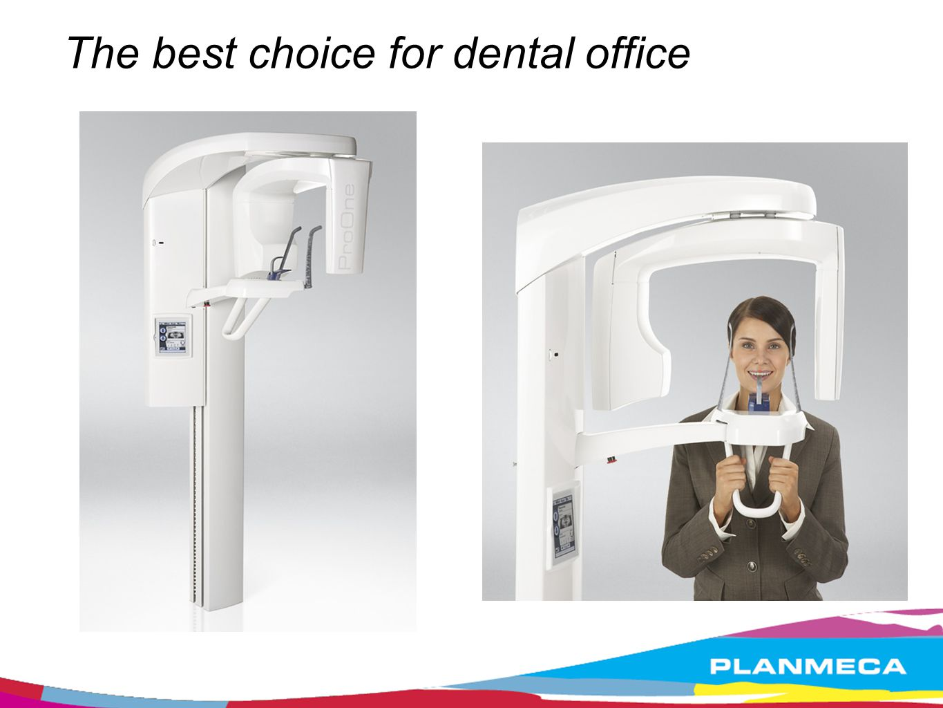 Easy to operate Open and easy patient access Side entry and open view No mirror, no traumatic view of injuries Triple laser beam system for accurate alignment