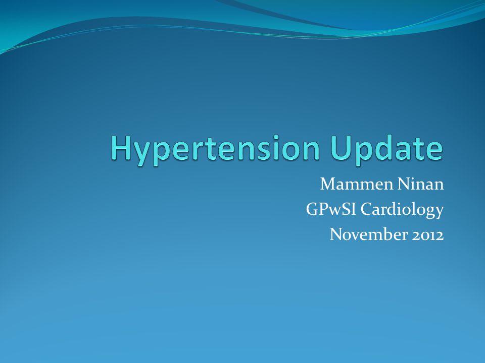 Mammen Ninan GPwSI Cardiology November 2012