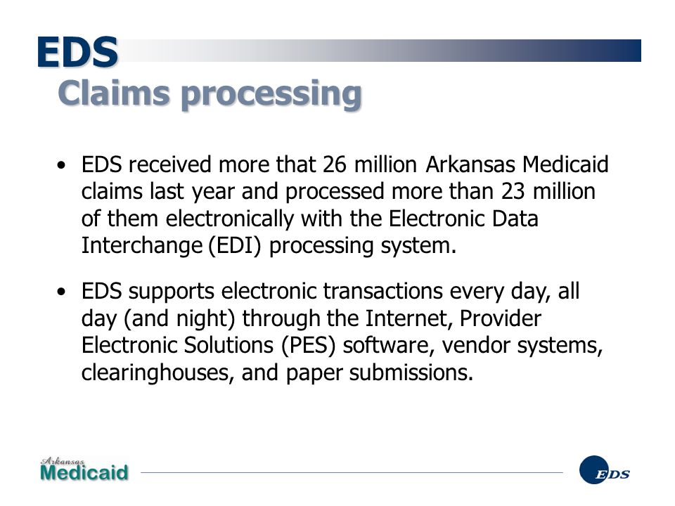 Claim volume EDS EDI claims Total claims Number of claims (millions) State Fiscal Year